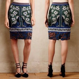 Anthropologie Moth Jacquard Sweater Skirt - Small
